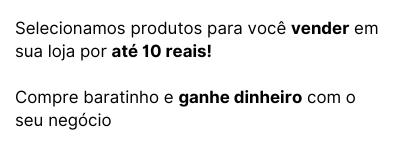 Revenda por 10 reais