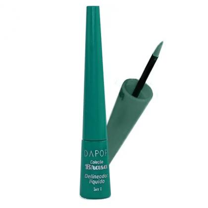 Delineador Líquido Colorido Dapop - Cor 04 Verde Escuro