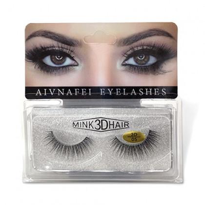 Cílios Postiços Mink 3D-05 - Aivnafei Eyelashes