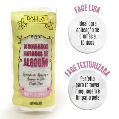 Kit 6 Discos De Algodão Para Limpeza Facial Dalla Makeup