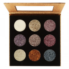Paleta de Glitter Cremoso Shine Black Ruby Rose - Modelo G