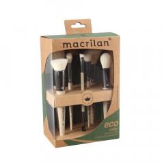 Kit com 7 Pincéis Linha Eco Sustentável Macrilan