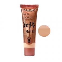 Base Líquida Soft Matte Ruby Rose - Cor Bege 6