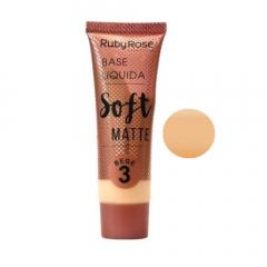 Base Líquida Soft Matte Ruby Rose - Cor Bege 3