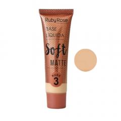 Base Líquida Soft Matte Ruby Rose - Cor Nude 3