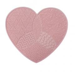 Limpa Pincéis Maquiagem Tapete De Silicone Coração - Mandala