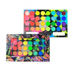 Paleta de Sombras Tropical 35 Cores Matte e Cintilante - Mylife