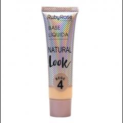 Base líquida Natural Look Ruby Rose - Bege 4