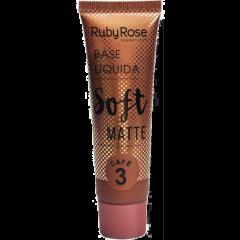 Base Líquida Soft Matte Ruby Rose - Cor Café 3