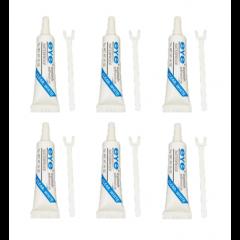 Kit 6 Und Cola Para Cílios EYE Eyelash Adhesive Clear White