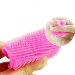 Escova de Silicone Flexível para Limpeza Facial