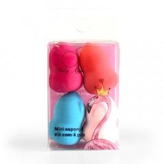 Kit com 04 Mini Esponjas Corpinho de Maquiagem - Ruby Anjo