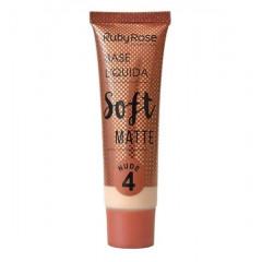 Base Líquida Soft Matte Ruby Rose - Cor Nude 4