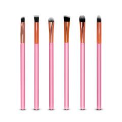 Kit Pincéis De Precisão Maquiagem Rosa